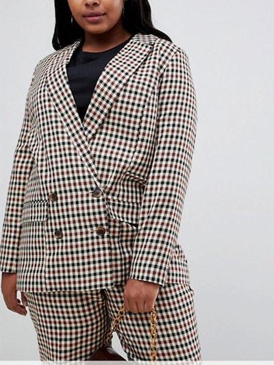 Curve Tailored Heritage Check Blazer