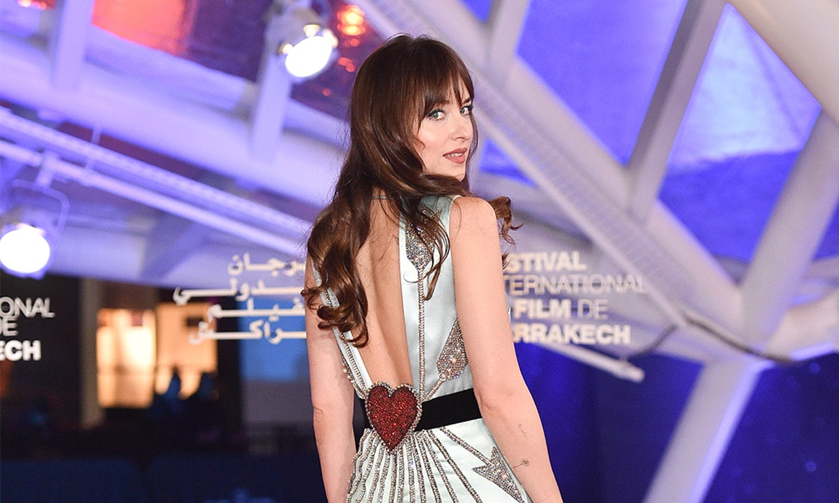 Dakota Johnson's Icy Blue Gown At The The Marrakech International Film Festival Was So Stunning