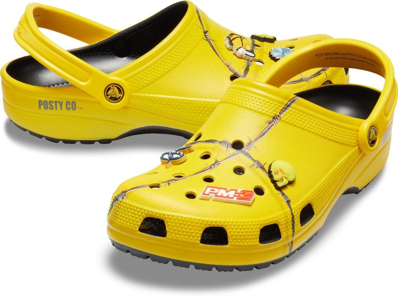6aa635f13 Where Can You Buy The Post Malone X Crocs Barbed Wire Clogs  The Quirky  Shoes Are Sure To Sell Out