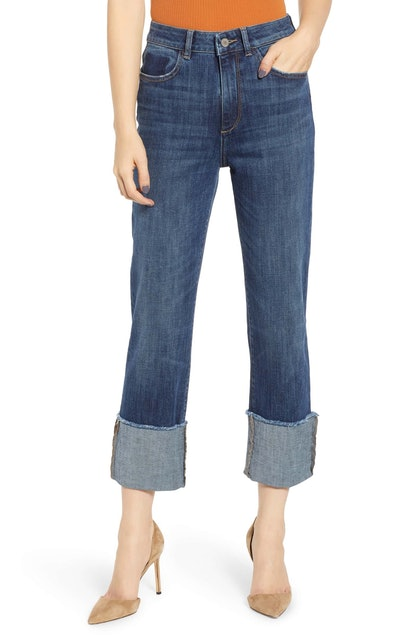 Jerry Cuff Straight Leg Jeans