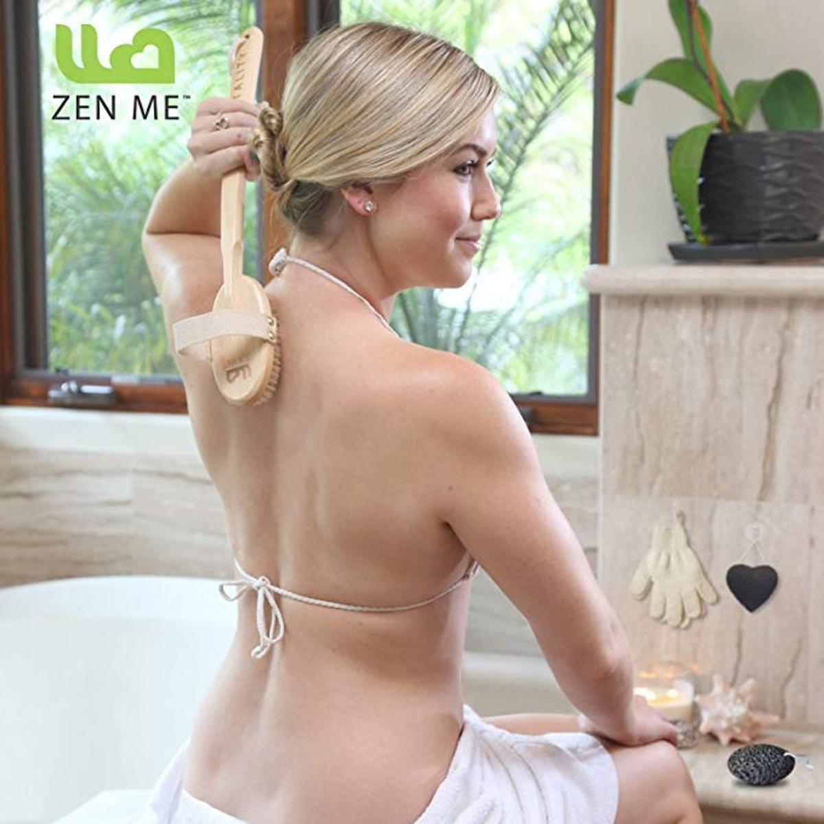 Zen Me Dry Brushing Body Brush Set