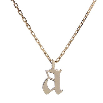 Gothic Initial Necklace