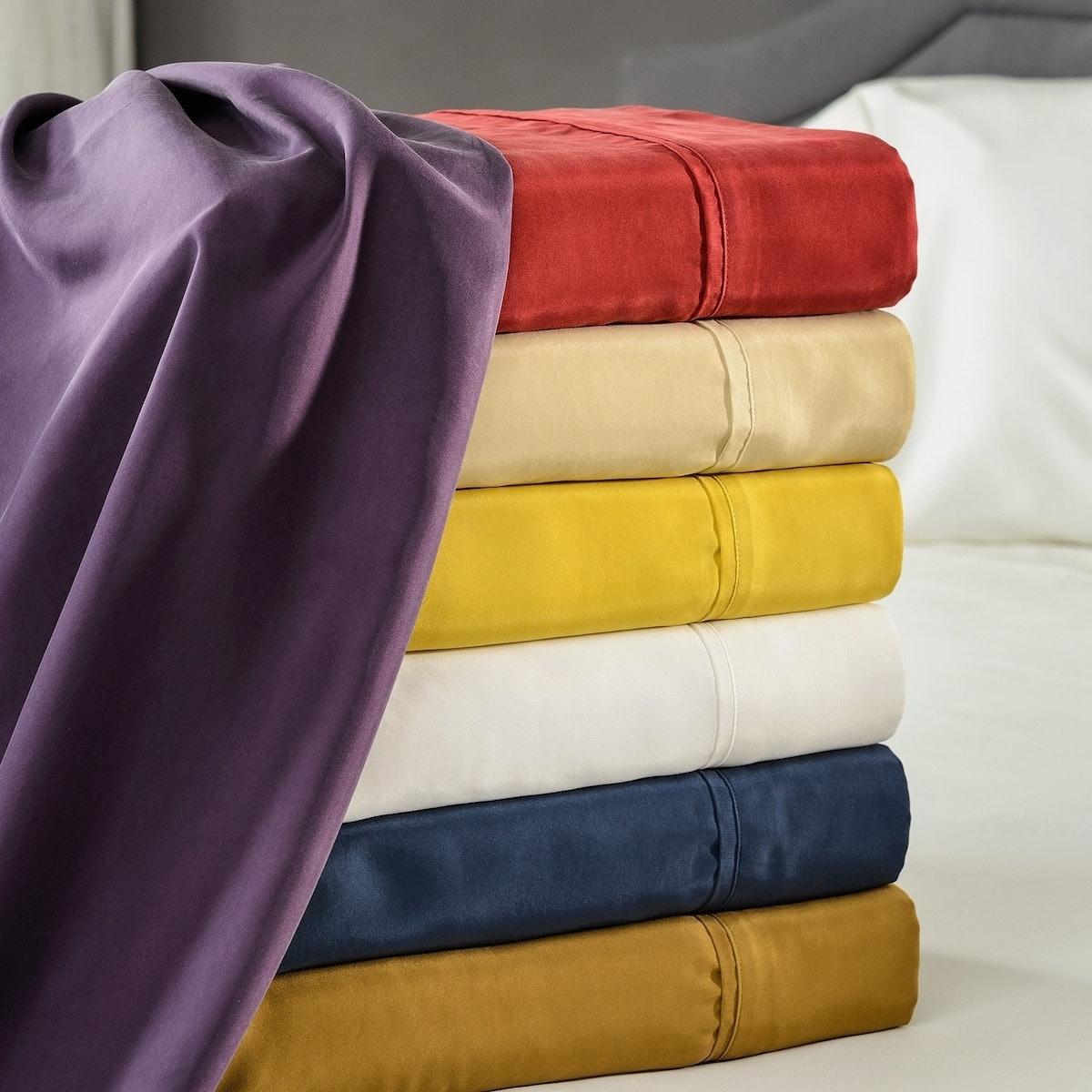 Elle & Alix Sand Washed Silk Sheet Set