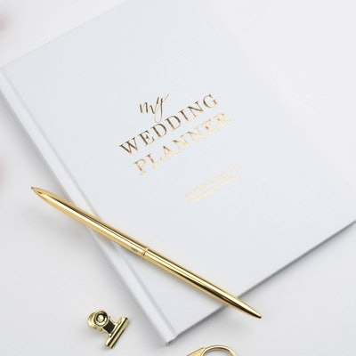 Blush And Gold Invites Luxury Wedding Planner Book