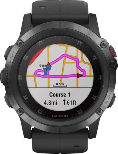 Garmin - Fēnix 5X Plus Sapphire Smart Watch - Fiber-Reinforced Polymer - Black