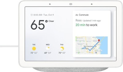 Google - Home Hub with Google Assistant - Chalk