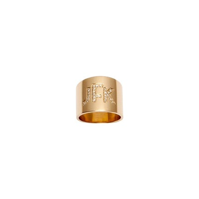 Cigar Band with Burnish Diamond Block Letter Monogram