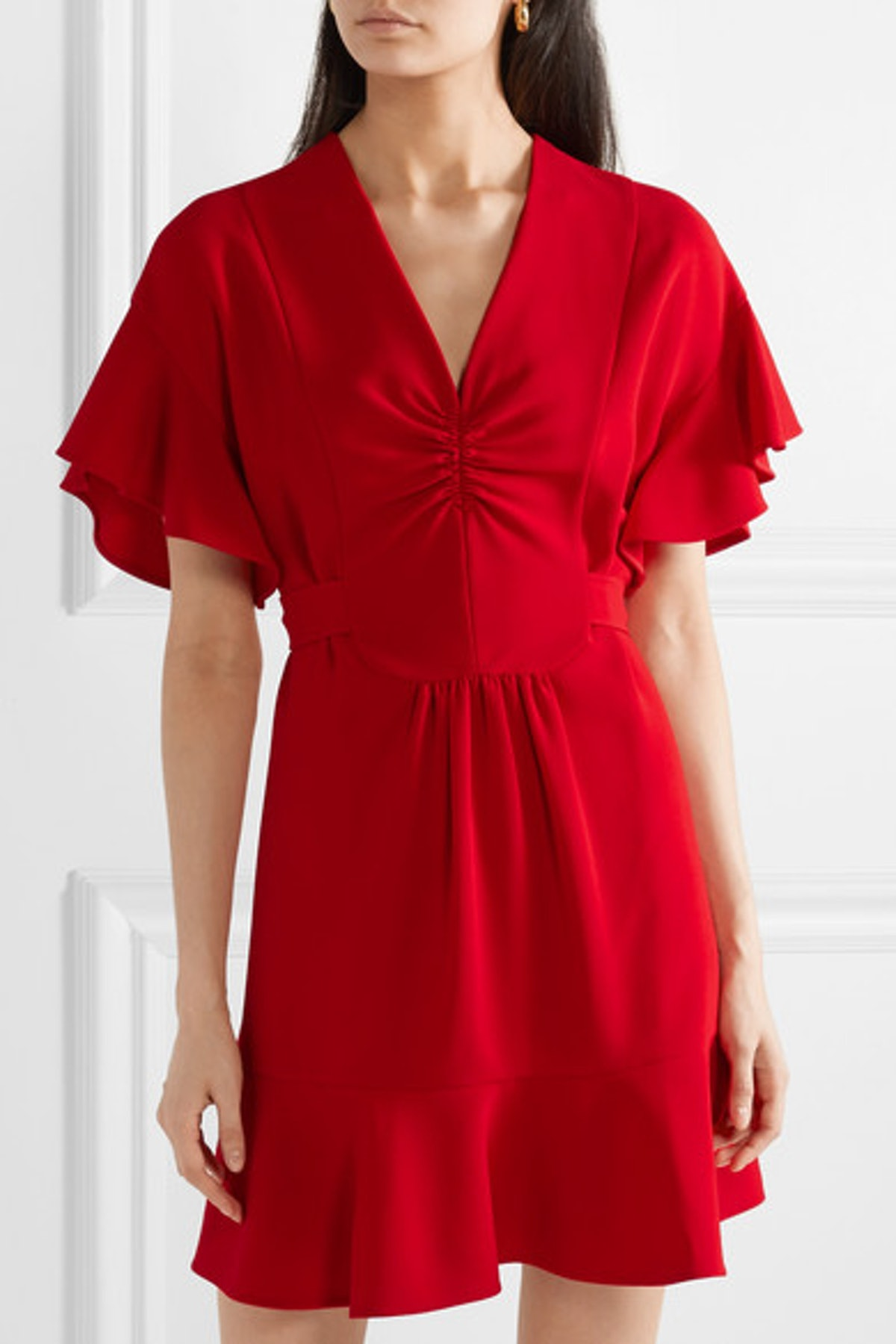 Ruffled Cady Dress
