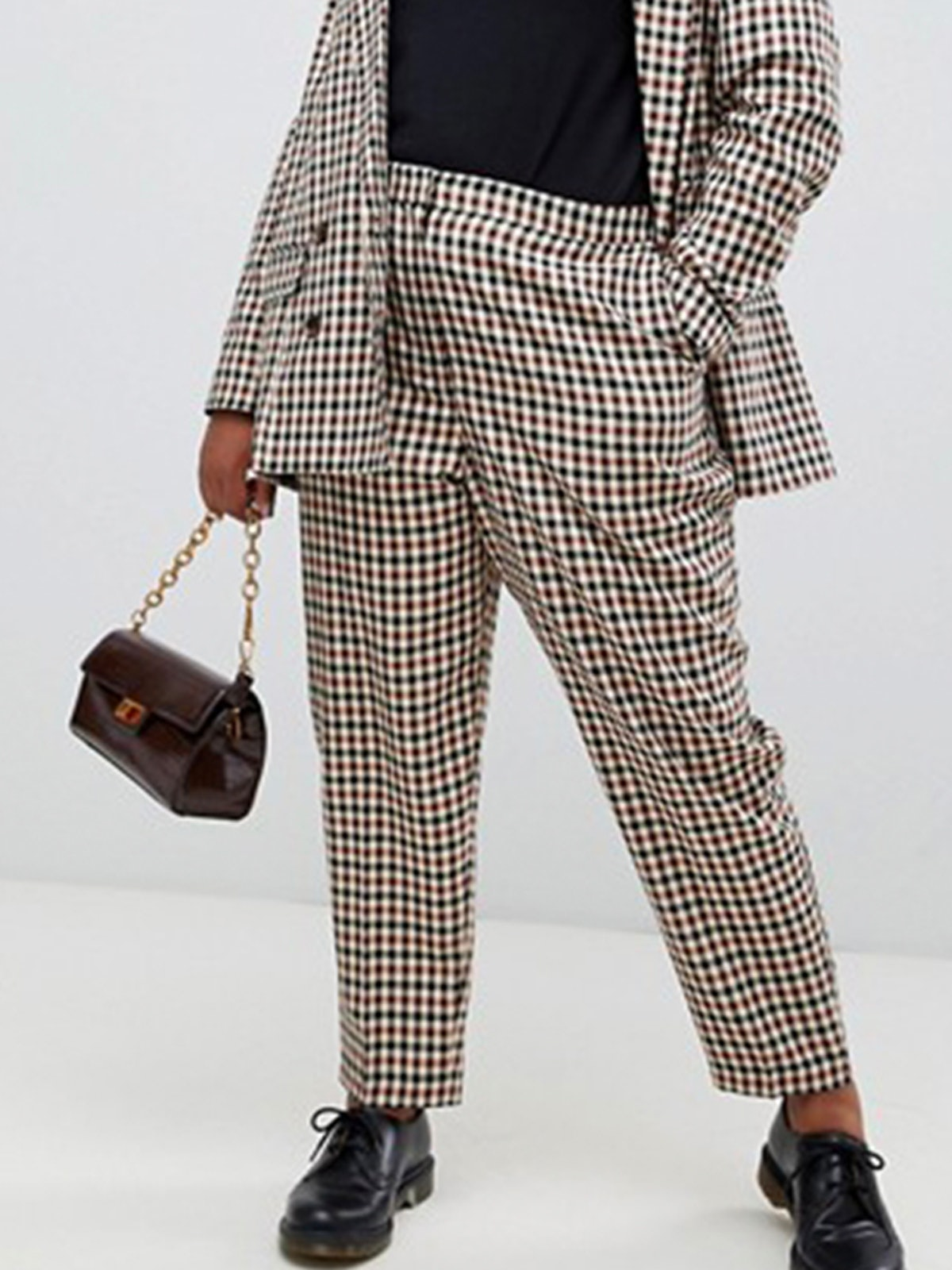 Curve Tailored Heritage Check Slim Pants