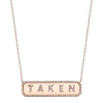 Horizontal Personalized Nameplate Necklace