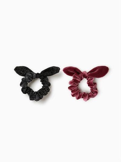 Two Pack Of Velvet Hair Ties