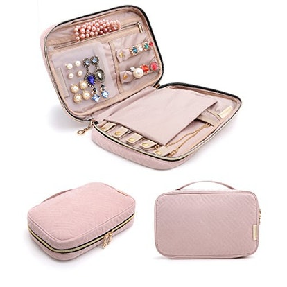 BAGSMART Travel Jewelry Storage Case