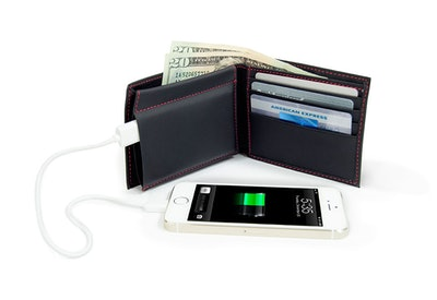 Men's Phone Charging Leather Wallet