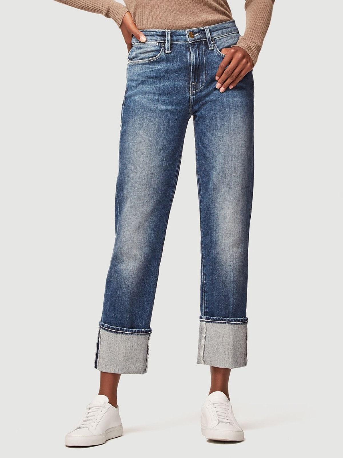 Le High Straight Big Cuff Jeans