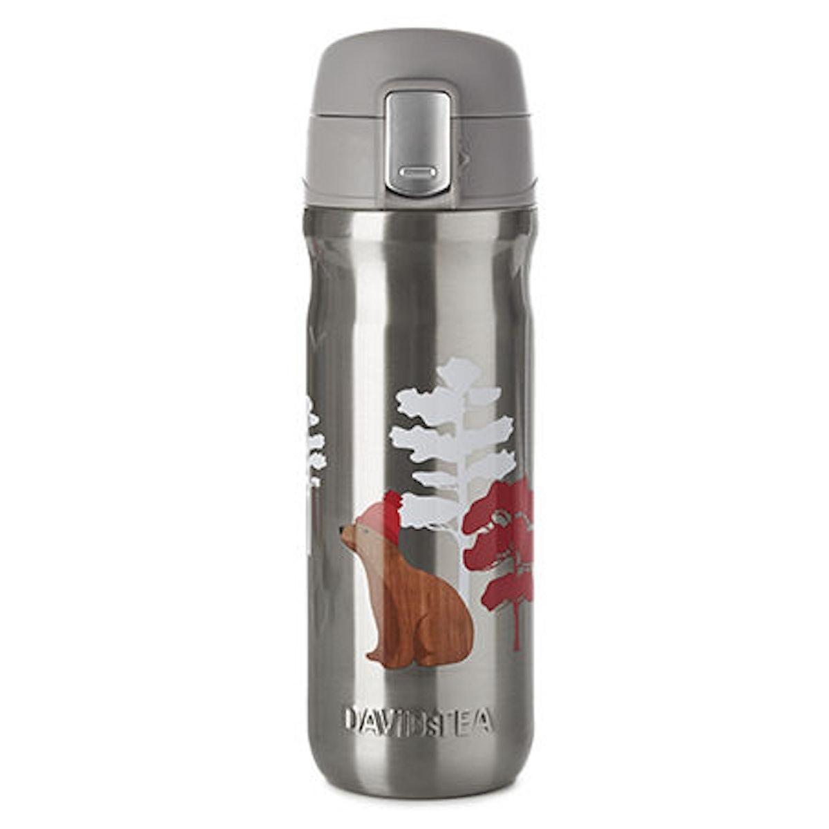 DAVIDsTEA Woodbear Lock Top Travel Mug