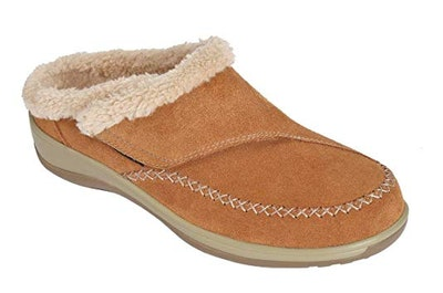 Orthofeet Charlotte Leather Slippers