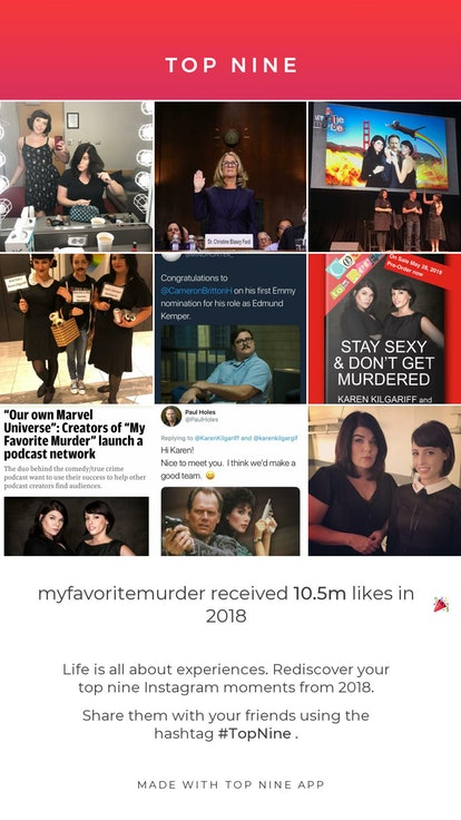 Top Nine for Instagram made a collage of the My Favorite Murder account's best moments.