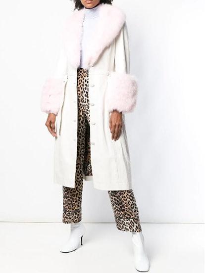 Fur Detail Coat