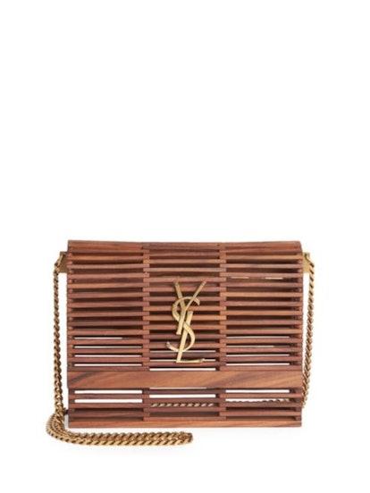 Saint Laurent Wooden Cage Kate Bag