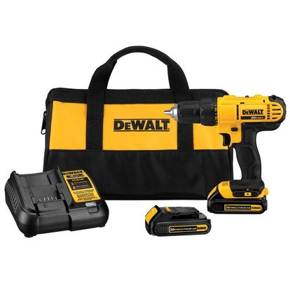 DEWALT 20-Volt MAX Lithium-Ion Cordless 1/2 in. Drill/Driver Kit with (2) 20-Volt Batteries 1.3Ah, Charger and Tool Bag