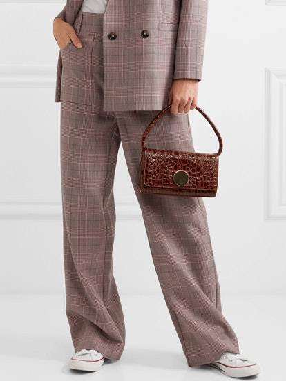 Hewitt Checked Cady Straight-Leg Pants
