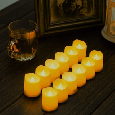 Novelty Place Flameless Votive Candles (12 Pack)