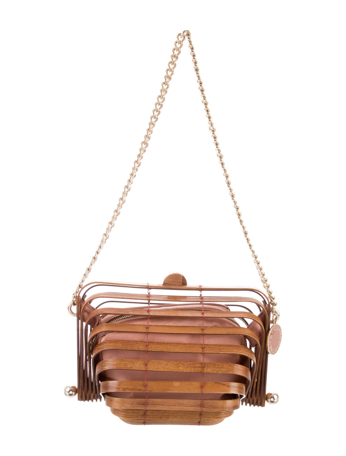 Stella McCartney Wooden Accordion Bag
