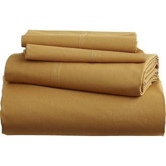 Organic Camel Hair Percale Full Sheet Set