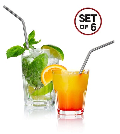 Decodyne Stainless Steel Drinking Straws (Set of 6)