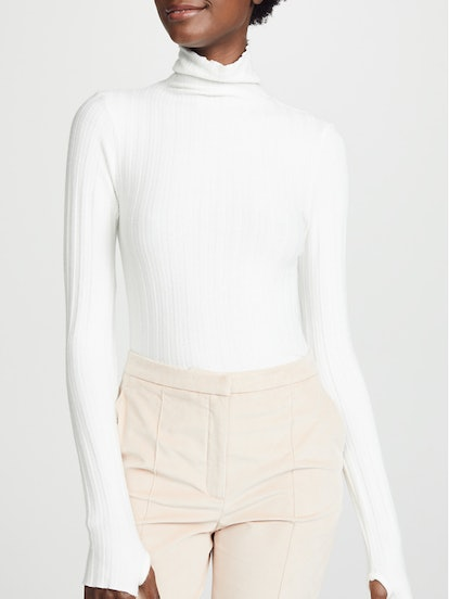 Ribbed Cropped Turtleneck