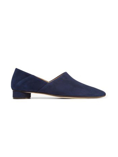 Noelle Suede Collapsible-Heel Loafers