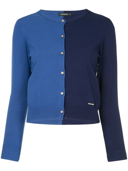 Loveless two-tone buttoned cardigan
