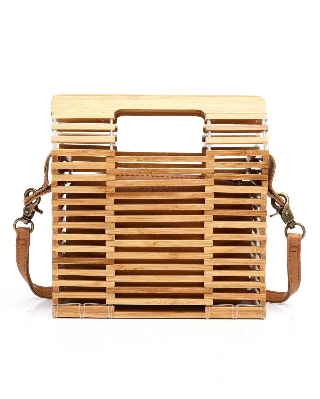 Fashion Lab Bamboo Mini Satchel Bag