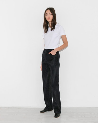 R13 Navy Pinstripe Colleen Pant