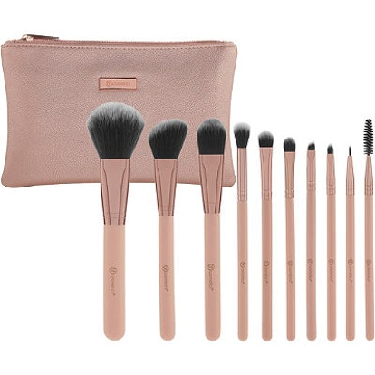 BH Cosmetics Online Only Pretty in Pink - 10 Piece Brush Set with Cosmetic Bag