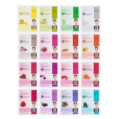 DERMAL Collagen Essence Full Face Sheet Mask Set (Set of 16)