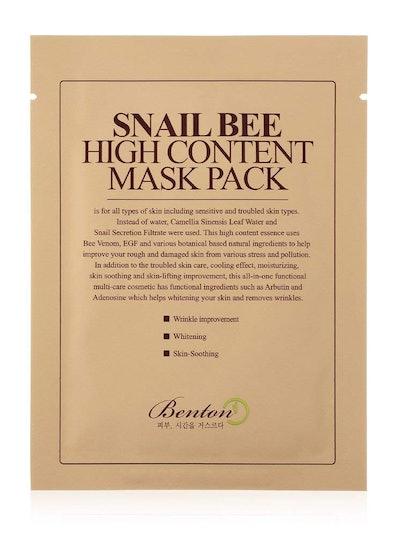 Benton Snail Bee High Content Sheet Mask Pack