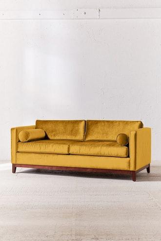 Piper Petite Velvet Sofa in Gold