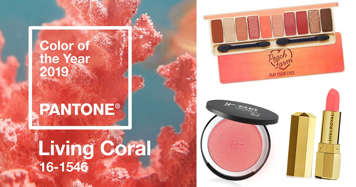 bd405ff54 How To Wear Coral Makeup   Channel Pantone s 2019 Color of the Year ...