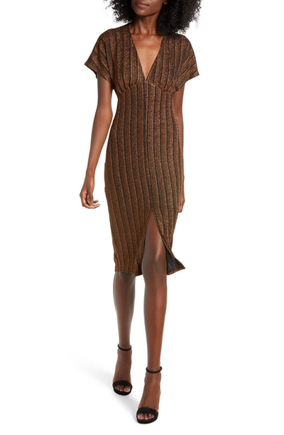 All In Favor Sparkle Rib Knit Dress