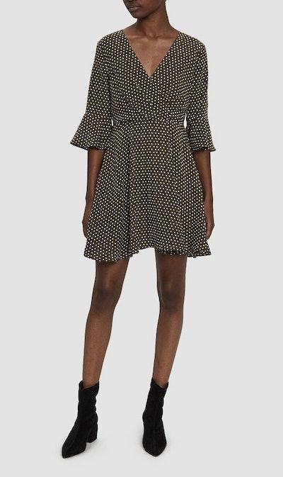 Mia Polka Dot Dress in Olive
