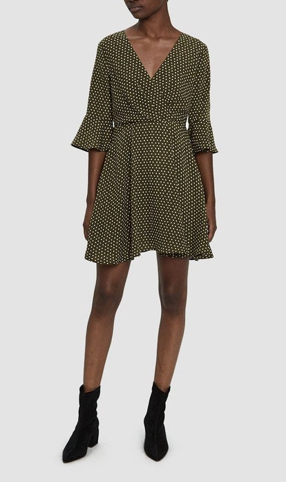 Mia Polka Dot Dress in Olive