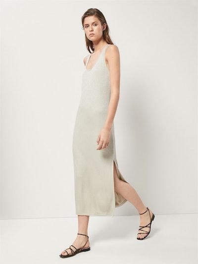 Shimmery Ribbed Dress