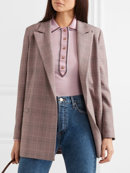 Hewitt Checked Cady Blazer