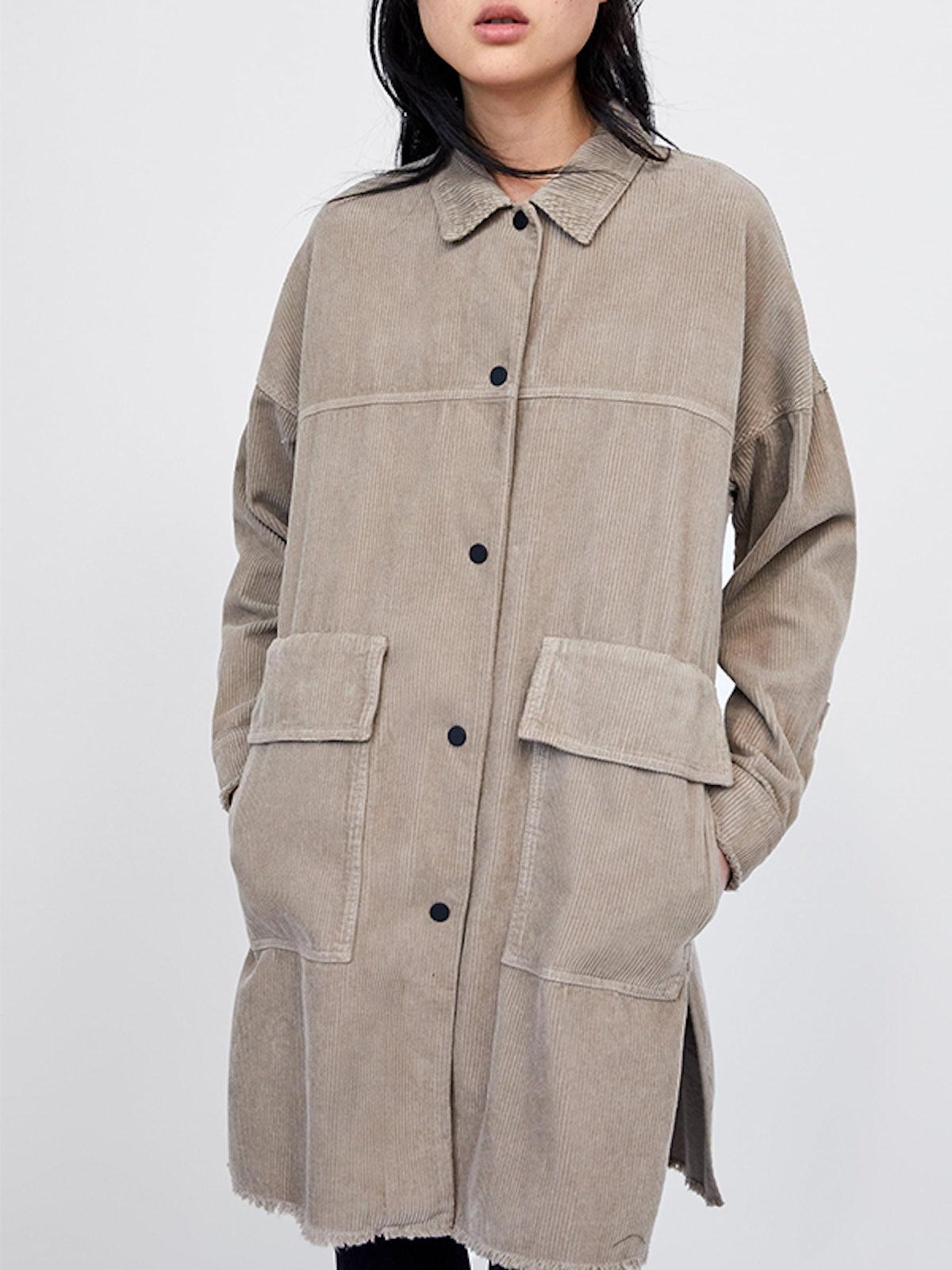 Corduroy Overshirt With Pockets