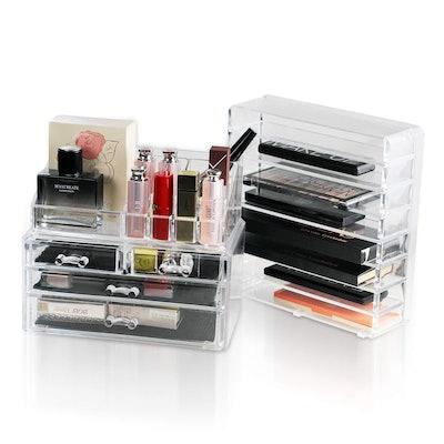 Unique Home Acrylic Makeup Organizer (2-Piece Set)