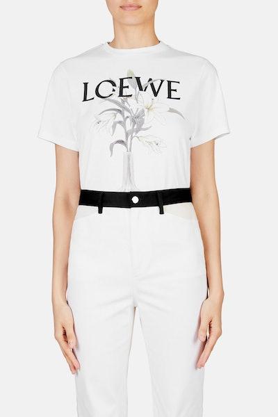 Loewe Flower & Vase Tee - White