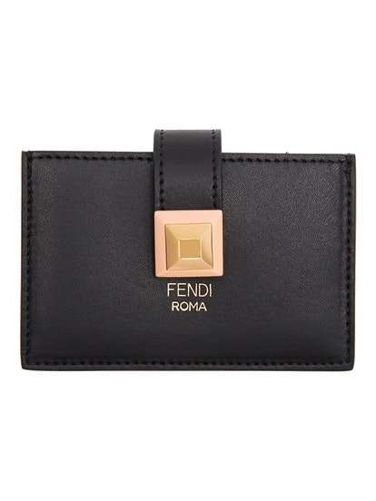 Black Single Stud Card Holder