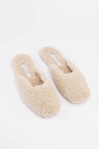 Cream Shearling Slippers