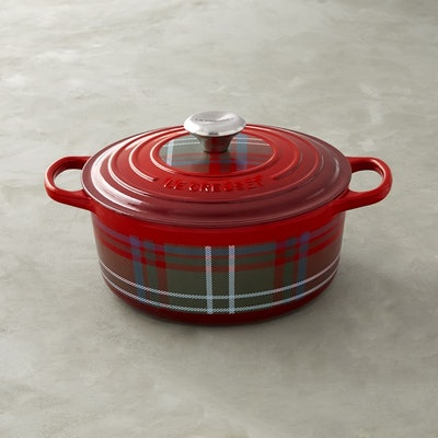 Le Creuset Signature Tartan Cast-Iron Round Dutch Oven